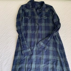 GAP plaid shirt dress